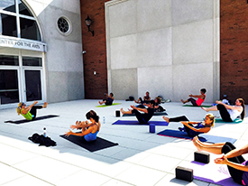 Yoga on the plaza for website